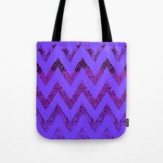 purple chevron Tote Bag