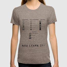 WASHING INSTRUCTIONS (LEARN IT!) T-shirt