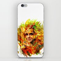 emma watson iPhone & iPod Skins featuring Emma Watson by ururuty