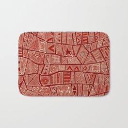 ESHE red mono Bath Mat