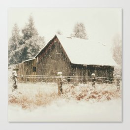 Rustic Winter Canvas Print