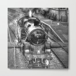 The Golden Age of Steam Metal Print