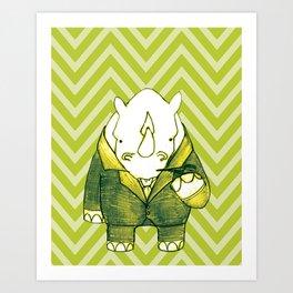Rhino Recherche Art Print