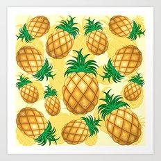 Pineapple Juicy Pattern Art Print