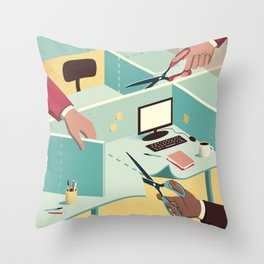 Tailor-made workspace Throw Pillow