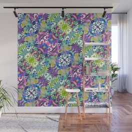 Colorful Modern Floral Print Wall Mural