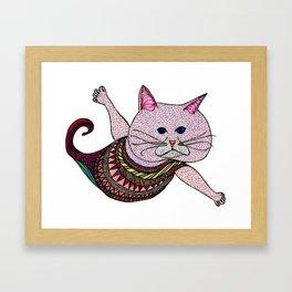 Mer-Kat Meow Framed Art Print