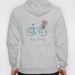 Keep Riding Bike, Watercolor Bike Hoody