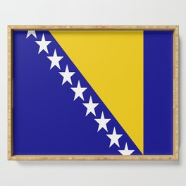 Flag of Bosnia – Bosnian,Bosniak,herzegovinian,bosna,Sarajevo,Balkan,yugoslavia. Serving Tray
