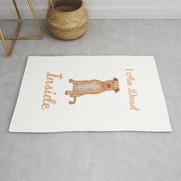 I Am Dead Inside As A Funny Cute Dog Pit Bull Humor Rug