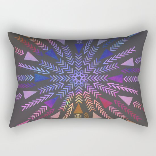 Multicolored geometric firework Rectangular Pillow