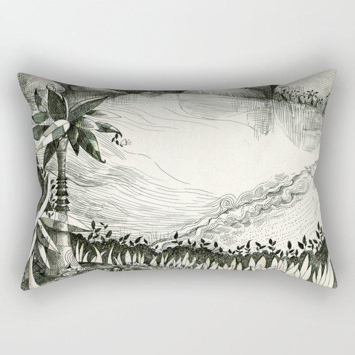 Moon Hunting Rectangular Pillow