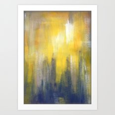Yellow and Grey Art Print