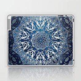 Indigo Nouveau Shibori Mandala Laptop & iPad Skin