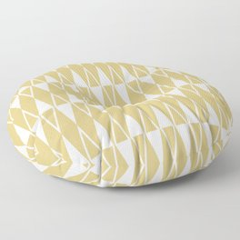 Mid Century Modern Diamond Pattern Gold 234 Floor Pillow