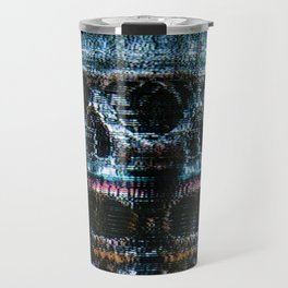 Analogue Glitch Skull Array Travel Mug