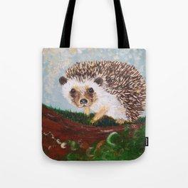 Hedgehog and Mushrooms Tote Bag
