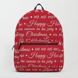 Christmas words pattern Backpack