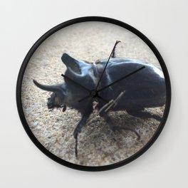 Rhinoceros beetle Wall Clock