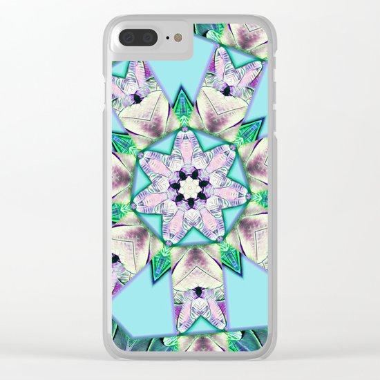 floral star mandala Clear iPhone Case
