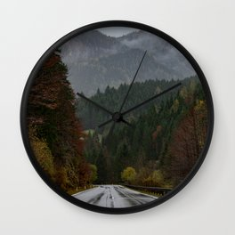 Road up to the Mountain Wall Clock