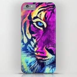 tiger purple spirit #tiger iPhone Case