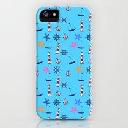 Nautical Beach Pattern iPhone Case