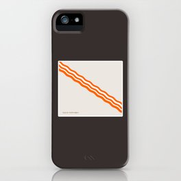 Minimalist Bacon iPhone Case