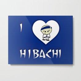 I Luv Hibachi Blue Metal Print