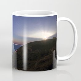 Watercolor Nightscape, Kullaberg Lighthouse 02, Sweden Coffee Mug