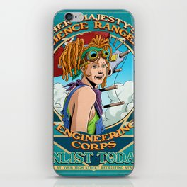 Her Majesty's Science Rangers: Engineering Corps iPhone Skin