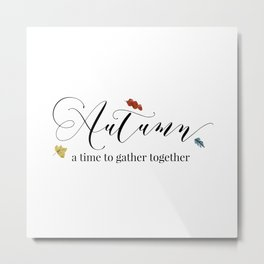 Autumn - a time to gather together Metal Print