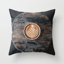 Coffe Art Throw Pillow