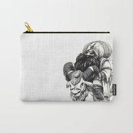 """Inktober 2017 #2 """"Dwarf on the Ram"""" Carry-All Pouch"""