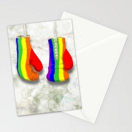 Rainbow fight Stationery Cards