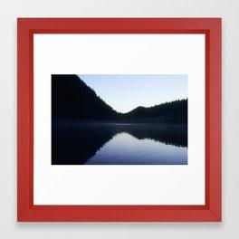 Snow Lake Framed Art Print