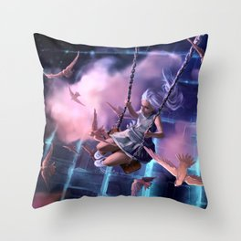 Th great escape Throw Pillow