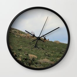 Rocky Mountain Elk Wall Clock