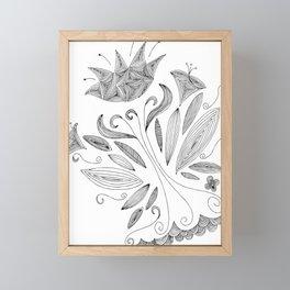 Flower sketch Framed Mini Art Print