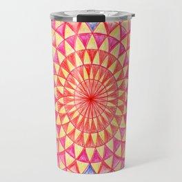 Magic Torus Eye Rangoli Sacred Geometry Travel Mug