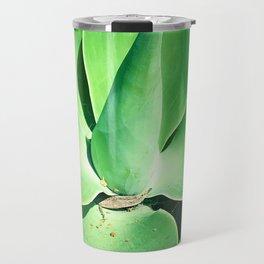 Luscious, Vibrant, Avocado-Green Succulent Art Photo Travel Mug