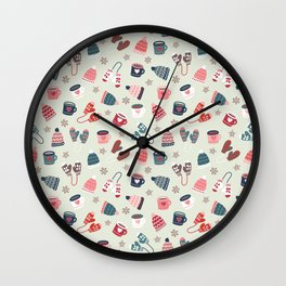 Scandinavian Winter Time Wall Clock