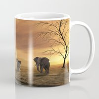 elephants Mugs featuring Elephants by Susann Mielke