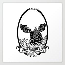 Acadia Emblem Art Print