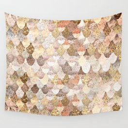 MERMAID GOLD Wall Tapestry