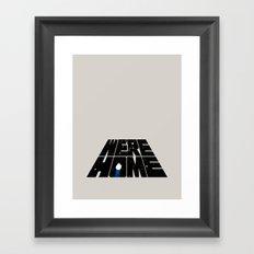 We're Home Framed Art Print