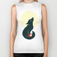 red riding hood Biker Tanks featuring Little Red Riding Hood by Freeminds