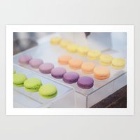 macaron Art Prints featuring Macaron by sparkofinspiration