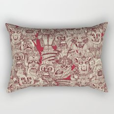 gargoyles red Rectangular Pillow