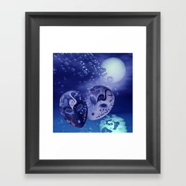 illusions in the night Framed Art Print